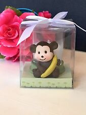 12-Baby Shower Table Decorations Monkey Candles Party Favors Animals Safari Boy