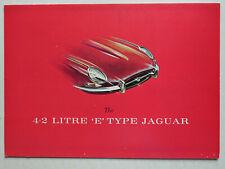 Prospekt / brochure Jaguar E Type 4.2 litre, ca.1964, 6 Seiten, folder, english