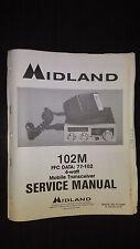 Midland 77-102 m CB mobile radio Service Manual Original Factory Repair Book