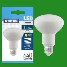 4x 8W = 100W STATUS Energy Saving LED E27 R80 Reflector Light Bulb Lamps
