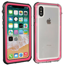 iPhone X Case, Clear Back Waterproof Shockproof Cover with Screen Protector i 10