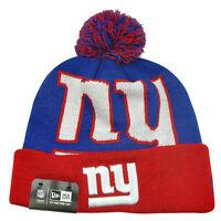 New York Giants NFL New Era BIGGIE Pom Beanie Knit Hat