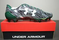 New Under Armour UA Spotlight Men Football Cleats Size 15 Zebra Print