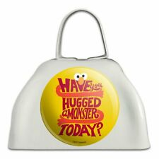 Sesame Street Have You Hugged a Monster? White Metal Cowbell Cow Bell Instrument