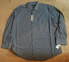 Van Heusen Micro Smooth Dress Shirt, Blu Black Iris, Sz. XL