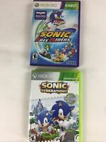 2 Game Pack Sonic Generations and Kinect Sonic Free Riders Xbox 360 Complete
