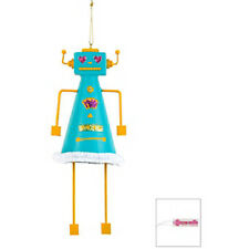 Betsey Johnson Robot Ornament & Crystal Stud Earrings New Tags MSRP $25