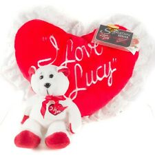 I Love Lucy Classic Collecticritters Heart Pillow Bear Plush Signature Series II