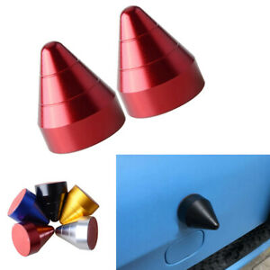 2x Red Universal Bump Protector Spike Guards For Car Front or Rear Bumpers