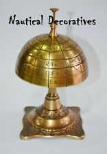 Antique Cast Vintage Globe Decorative Desk Hotel Counter Bell