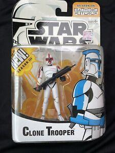 Hasbro Star Wars Clone Wars Red Clone Trooper Figure Cartoon Network 2005