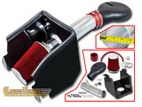 94-01 Dodge Ram 1500 5.2 5.9 V8 COLD SHIELD AIR INTAKE+ RED FILTER
