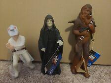 "Star wars emperor, chewbacca, LUKE SKYWALKER Jedi Training  9"" Figure, Applause"