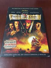 PIRATAS DEL CARIBE LA MALDICION DE LA PERLA NEGRA - ESPECIAL COLECCIONISTA 2 DVD