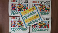 PANINI WORLD CUP 1986 WM 86 MEXICO - 5 x TÜTEN PACKS BUSTINA BLUE BACK STICKERS