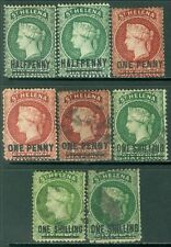 ST HELENA : Mint & Used group of the 1864-1880 overprints.