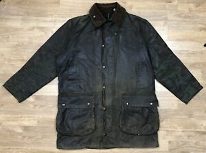 Men's Barbour A400 Northumbria Waxed Olive Green Jacket Wax Coat Vintage