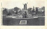 Postcard Moses' Fountian, Washington Park, Albany, NY