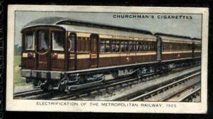 Tobacco Card, Churchman, LANDMARKS IN RAILWAY PROGRESS, 1931, Metropolitan, #45