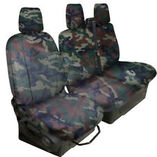 FULLY TAILORED HEAVYDUTY GREEN CAMO VAN SEAT COVER forFORD TRANSIT CUSTOM 2013on