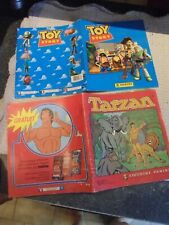 Ancien Album d'Images Panini  quasi vides Toy Story 1996 & Tarzan 1979