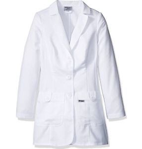 NEW Grey's Anatomy Women's 32 Inch Two Pocket Fitted Lab Coat 7446 White Large