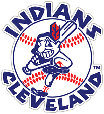 "Cleveland Indians MLB Baseball Car Bumper Window Sticker Decal 4.2""X5"""