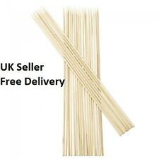 "Wooden Skewers for Kebabs, BBQ, Fruits, Chocolate Bamboo Sticks 10"" Long 100 pcs"