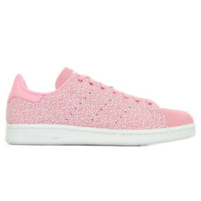 Chaussures Baskets adidas femme Stan Smith J taille Rose Cuir Lacets