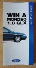 FORD MONDEO 1.8 GLX 1993 UK Mkt Free Prize Draw promo brochure