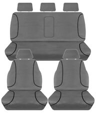 FULL CAR PACK 14oz CANVAS SEAT COVERS FOR FORD RANGER PX MKII DUAL CAB 15-ON