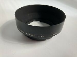 NIKON NIKKOR F METAL SCREW-ON LENS HOOD FOR 50mm & 58mm f/1.4 LENSES