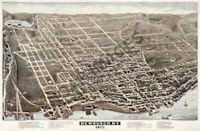 Newburgh New York panoramic map c1875 30x20