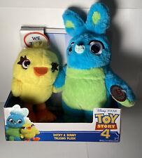"Toy Story 4 Talking Plush Ducky & Bunny 9"" Toys Disney Pixar NEW!"