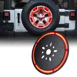 Xprite 3rd LED Brake Light Spare Wheel Tire Assembly For 07-18 Jeep Wrangler JK
