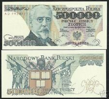 POLAND 500000 ZLOTYCH P156 1990 A or F PFX BOOK FLAG SHIELD UNC 1/2 MILLION NOTE