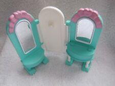 FISHER PRICE Loving Family Dream Dollhouse MIRROR GREEN VANITY for BEDROOM Rare!