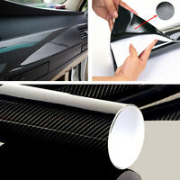 3D Carbon Folie Selbstklebend Car Wrapping Folie Autosticker 20 X 152cm Schwarz
