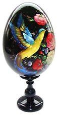 Oeuf decore en bois peint Oiseau de paradis Oeuf decore peint Oiseau paradis