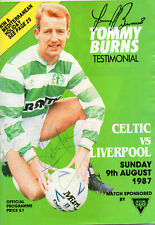 More details for tommy burns testimonal programme celtic v liverpool 9/8/1987 hand signed by 8
