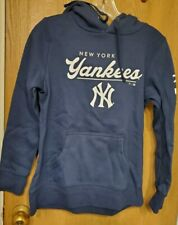 New York Yankees Fanatics Branded Women's Pullover Hoodie - Navy - SMALL