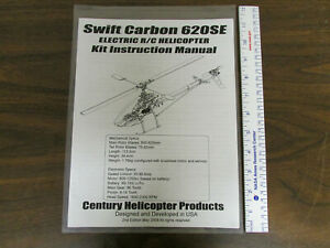 Century Helicopter Products Swift Carbon SE Electric R/C Manual New