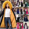 Women Parka Coat with Hood Winter Warm Fur Collar Jacket Parka Outwear Long Coat