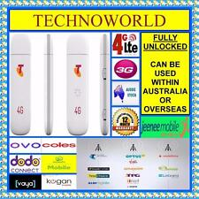 UNLOCKED 3G/4G USB MODEM ZTE MF823 + 2 / DUAL EXTERNAL ANTENNA RF PORT/SLOT