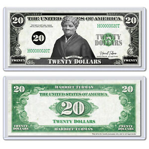 Harriet Tubman Twenty 20 Dollar Bill Novelty Collectible Money with Case