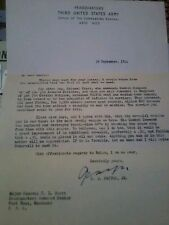 Copy Of WW2 Pattons Letter to Major General Scott 29th September 1944