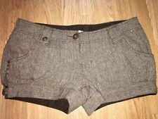 Gold Bronze Papaya Shorts Hotpants Cuffed Size 12