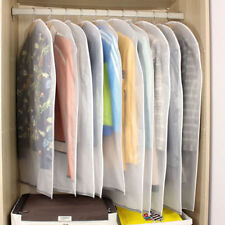 6 Pack Set Clear Polythene Garment Covers Suit Dress Dust Protector Travel Bags