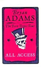 Bryan Adams 2010 Bare Bones Tour Laminate Backstage Pass Unused