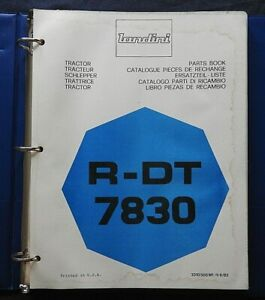 Genuine Landini R-DT 7830 TRACTOR PARTS CATALOG MANUAL W/BINDER 160+ pgs CLEAN